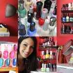 Test etagere murale pour vernis a ongle
