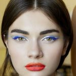 Test maquillage bleu blanc rouge