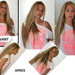Test extension de cheveux a clip naturel