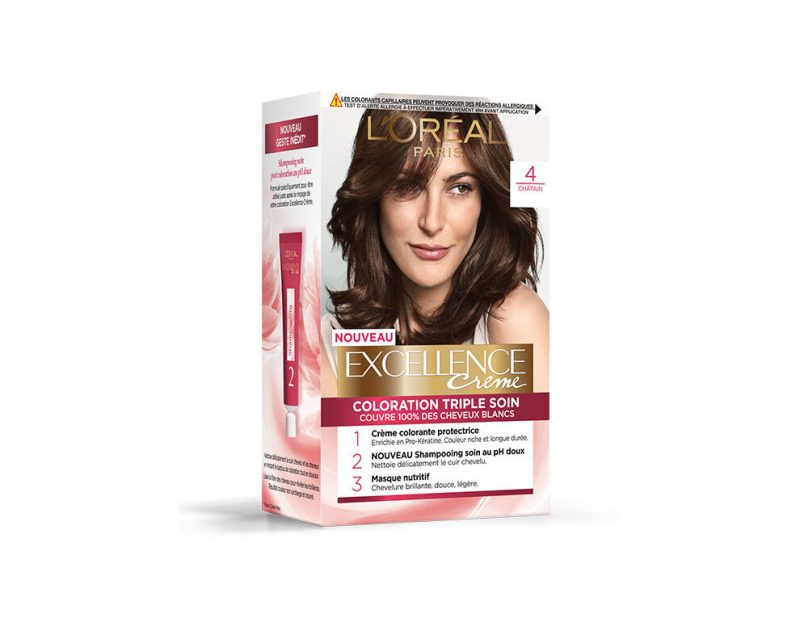 test chatain fonce l oreal