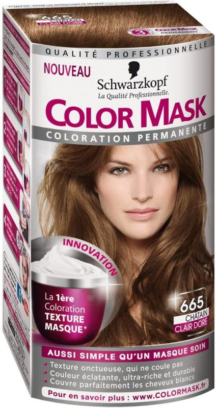 test color mask chatain clair
