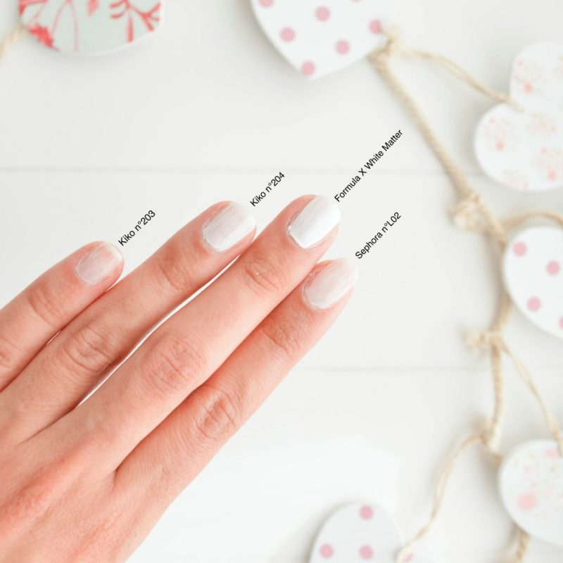 test vernis a ongle blanc